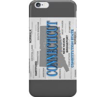 Aged Connecticut State Pride Map iPhone Case/Skin