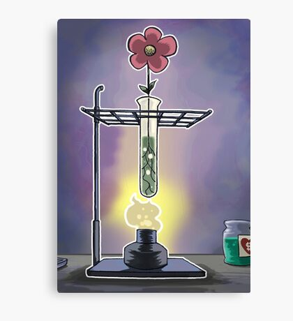 Bunsen Burner Flower Pot Canvas Print