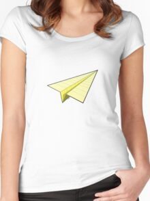 Paper Airplane 10 Women's Fitted Scoop T-Shirt