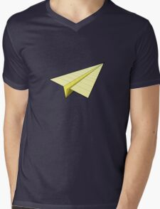 Paper Airplane 10 Mens V-Neck T-Shirt