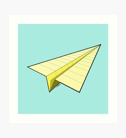 Paper Airplane 10 Art Print