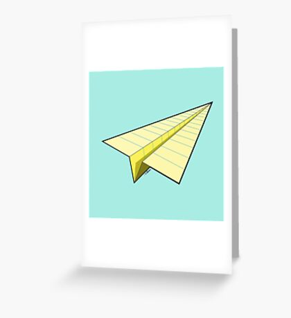 Paper Airplane 10 Greeting Card