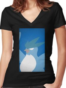 articuno Women's Fitted V-Neck T-Shirt