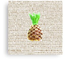 Psych Burton Guster Nicknames - Television Show Pineapple Room Decorative TV Pop Culture Humor Lime Neon Brown Canvas Print