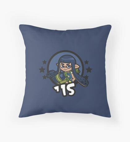 Video Game Heroes - Inkling: Blue Team (2015) Throw Pillow