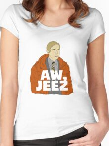 Aw, Jeez. Women's Fitted Scoop T-Shirt
