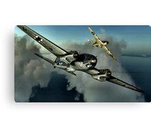 Hurricane / HE 111 World War 2 Art - Digital Painting Canvas Print