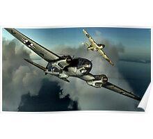 Hurricane / HE 111 World War 2 Art - Digital Painting Poster