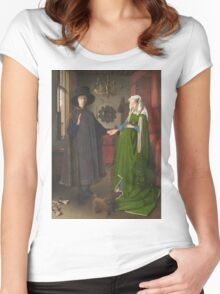 Van Eyck - Arnolfini Portrait Women's Fitted Scoop T-Shirt
