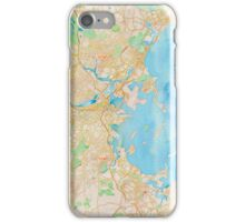 Water color map of Boston bay iPhone Case/Skin