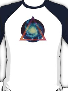 Space galaxy - triangle T-Shirt
