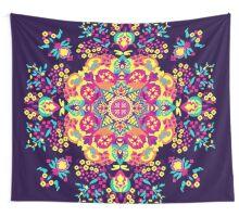 Neon tribal Mandala Wall Tapestry