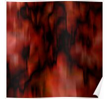 Abstract red and black Poster