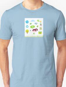 Recycle, nature and ecology icons isolated on white background Unisex T-Shirt