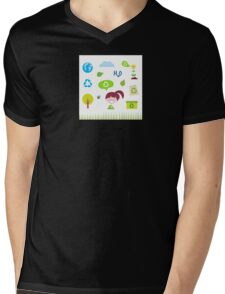 Recycle, nature and ecology icons isolated on white background Mens V-Neck T-Shirt