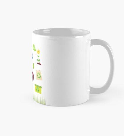 Recycle, nature and ecology icons isolated on white background Mug