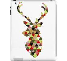 Christmas Noel Rudolph Reindeer Triangle Design iPad Case/Skin