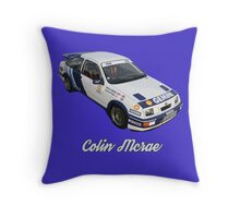 Colin Mcrae Ford Sierra Cosworth RS500 Throw Pillow