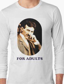 Tesla For Adults Long Sleeve T-Shirt