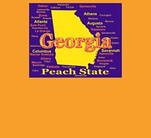 Colorful Georgia State Pride Map Silhouette  Unisex T-Shirt