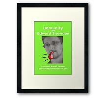 Immunity for Snowden Framed Print