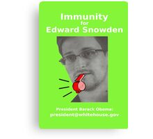 Immunity for Snowden Canvas Print