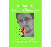 Immunity for Snowden Photographic Print