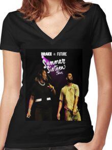 new t-shirt sixteen summer tour Women's Fitted V-Neck T-Shirt