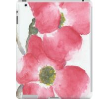 Red Dogwood Flowers in Watercolor iPad Case/Skin