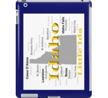 Idaho State Pride Map Silhouette  iPad Case/Skin