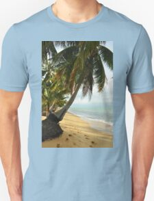 tropical beach with coconut palm trees Unisex T-Shirt
