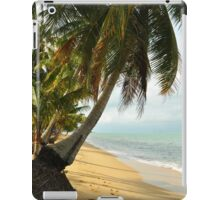 tropical beach with coconut palm trees iPad Case/Skin