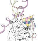 Party Animal ! Bulldog by Adam Regester