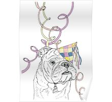 Party Animal ! Bulldog Poster