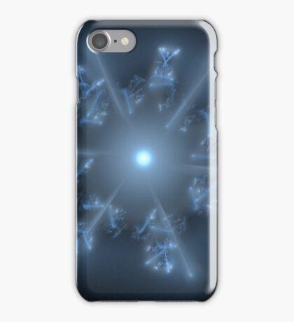 Fractal 29 blue star  iPhone Case/Skin