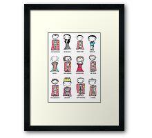 Merlin Characters Framed Print