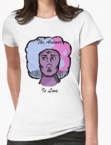 The Answer is Love Womens Fitted T-Shirt