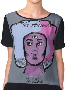 The Answer is Love Chiffon Top