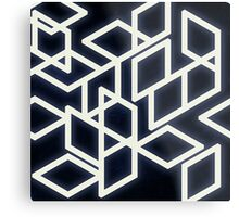 Retro,geometry,vintage,midt century art,modern,trendy,black,white Metal Print
