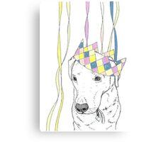 Party Animal ! Labrador Canvas Print