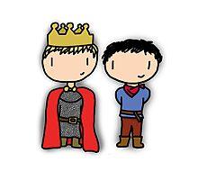 Merlin and Arthur Photographic Print