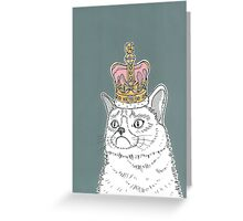 Grumpy Cat In A Crown Greeting Card