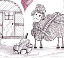 Ewe Love Camping Sticker