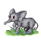 Curious Baby Elephant by KOKeefeArt