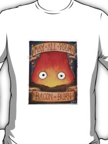 Howl's Moving Castle Illustration - CALCIFER (original)  T-Shirt