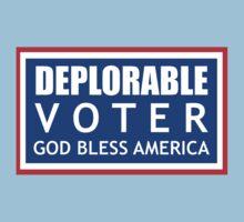 Deplorable Voter #basketofdeplorables Election 2016 Red White & Blue One Piece - Short Sleeve
