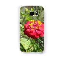 Big pink petaled flower Samsung Galaxy Case/Skin