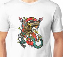 Traditional Eagle VS Snake Tattoo Design Unisex T-Shirt