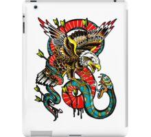 Traditional Eagle VS Snake Tattoo Design iPad Case/Skin