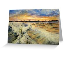Sunset in the Wake Greeting Card